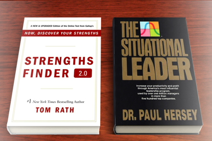 Strengths Finder and The Situational Leader Books