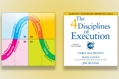 Situational Leadership Model beside the 4 Disciplines of Execution