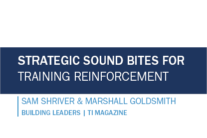 Strategic Sound Bites for Training Reinforcement