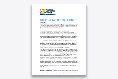 The Four Moments of Truth article cover